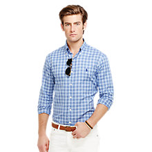 Buy Polo Ralph Lauren Oxford Cotton Plaid Shirt, Multi Blue Online at johnlewis.com