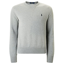 Buy Polo Ralph Lauren Crew Neck Sweatshirt, Grey Online at johnlewis.com