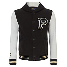 Buy Polo Ralph Lauren Vintage Varsity Jacket, Black/White Online at johnlewis.com