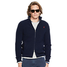 Buy Polo Ralph Lauren Full Zip Cotton Cardigan, Navy Online at johnlewis.com