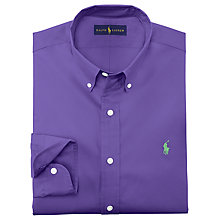 Buy Polo Ralph Lauren Solid Poplin Shirt Online at johnlewis.com