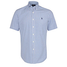 Buy Polo Ralph Lauren Gingham Slim Fit Shirt, Blue Online at johnlewis.com