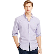 Buy Polo Ralph Lauren Gingham Poplin Long Sleeve Shirt, Purple Online at johnlewis.com