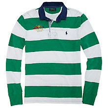 Buy Polo Ralph Lauren Striped Rugby Jersey Online at johnlewis.com