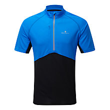 Buy Ronhill Trail Short Sleeve Half Zip Top, Blue/Black Online at johnlewis.com