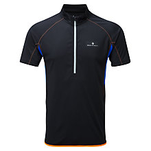 Buy Ronhill Advance Short Sleeve Half Zip Top, Black Online at johnlewis.com