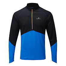Buy Ronhill Trail Long Sleeve Half Zip Running Top, Blue/Black Online at johnlewis.com