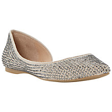 Buy Steve Madden Elizza Studded Asymmetric Pumps, Champagne Online at johnlewis.com