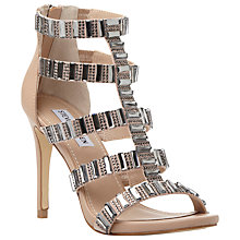 Buy Steve Madden Famme Embellished Strap Court Shoes, Nude Online at johnlewis.com