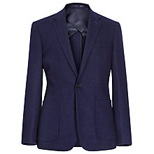 Buy Reiss Wintus Flecked Wool Blend Blazer, Navy Online at johnlewis.com
