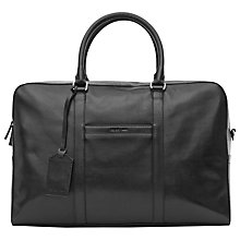 Buy Reiss Barker Leather Holdall, Black Online at johnlewis.com