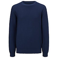 Buy JOHN LEWIS & Co. Made in Italy Tuck & Rib Yoke Crew Neck Jumper Online at johnlewis.com