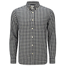 Buy John Lewis Gingham Flannel Shirt, Midnight Blue Online at johnlewis.com