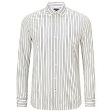 Buy JOHN LEWIS & Co. Long Sleeved Vintage Effect Striped Shirt Online at johnlewis.com