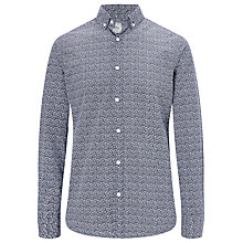 Buy John Lewis Paisley Floral Ditsy Print Shirt, Navy Online at johnlewis.com