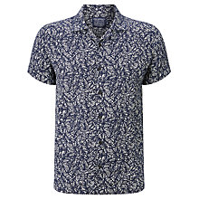 Buy JOHN LEWIS & Co. Tropical Print Linen Shirt, Navy Online at johnlewis.com