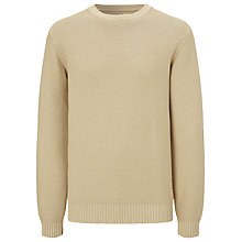 Buy JOHN LEWIS & Co. Made in Italy Moss Cotton Crew Neck Jumper, Natural Online at johnlewis.com
