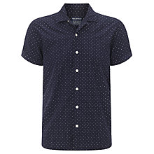 Buy JOHN LEWIS & Co. Short Sleeve Polka Dot Shirt, Ink Blue Online at johnlewis.com