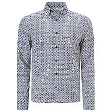 Buy John Lewis Floral Tile Print Shirt, Navy Online at johnlewis.com