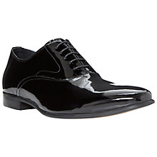 Buy Dune Reflector Patent Leather Oxford Shoes, Black Online at johnlewis.com