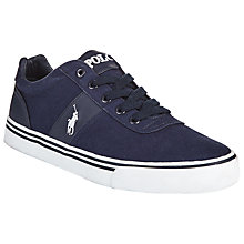 Buy Polo Ralph Lauren Hanford Trainers, Newport Navy/Orange Online at johnlewis.com