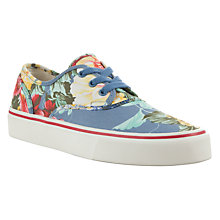 Buy Polo Ralph Lauren Morray Floral Canvas Trainers, Chambray/Multi Online at johnlewis.com