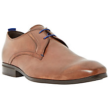 Buy Bertie Rambled Leather Lace-Up Gibson Shoes, Tan Comb Online at johnlewis.com
