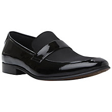 Buy Dune Runway Patent Loafers, Black Online at johnlewis.com