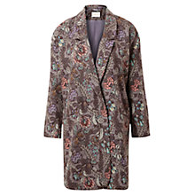 Buy East Georgina Print Coat, Ash Online at johnlewis.com