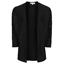 Buy Reiss Sequin Embroidered Cardigan, Black Online at johnlewis.com