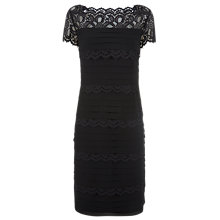 Buy Jacques Vert Lace Layered Dress, Black Online at johnlewis.com