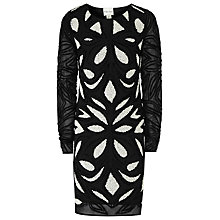 Buy Reiss Embellished Dress, Black / White Online at johnlewis.com