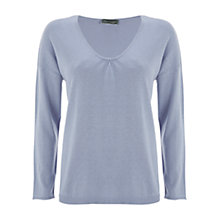 Buy Mint Velvet Scoop Neck Jumper, Bluebell Online at johnlewis.com