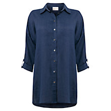 Buy East Oversized Linen Shirt, Ink Online at johnlewis.com