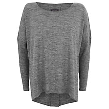 Buy Hygge by Mint Velvet Pleat Back Jumper, Grey Online at johnlewis.com