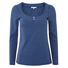 Buy White Stuff Long Sleeve Daisy Chain T-Shirt, Irish Blue Online at johnlewis.com
