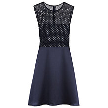 Buy Reiss Sequin Skater Dress, Lux Navy Online at johnlewis.com