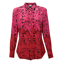 Buy East Meilin Floral Silk Shirt, Peony Online at johnlewis.com