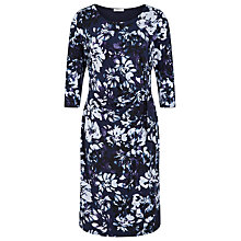 Buy Kaliko Placement Print Dress, Blue Online at johnlewis.com