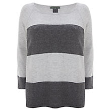 Buy Mint Velvet Stripe Jumper, Silver/Granite Online at johnlewis.com