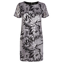 Buy Warehouse Sequin Shift Dress, Silver Online at johnlewis.com