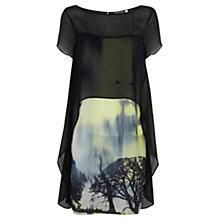 Buy Mint Velvet Francis Print Cape Top Dress, Multi Online at johnlewis.com