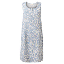 Buy East Calypso Print Linen Dress, Sky Online at johnlewis.com