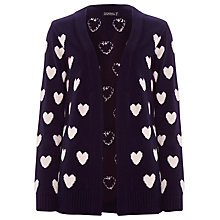 Buy Sugarhill Boutique Heart Cardigan, Navy / Cream Online at johnlewis.com