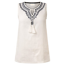 Buy East Embroidered Blouse, White Online at johnlewis.com