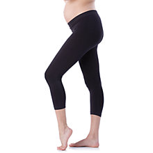 Buy Séraphine Holi Cropped Maternity Leggings, Black Online at johnlewis.com