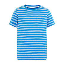 Buy John Lewis Boy Stripe T-Shirt, Blue/White Online at johnlewis.com