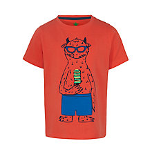 Buy John Lewis Boy Ice Lolly Monster Print T-Shirt, Orange Online at johnlewis.com