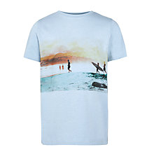 Buy John Lewis Boy Surf Board Photograph T-Shirt, Pale Blue Online at johnlewis.com