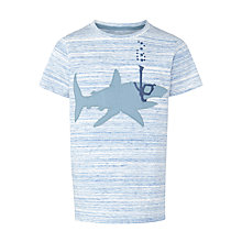 Buy John Lewis Boy Shark Print T-Shirt, Light Blue Online at johnlewis.com